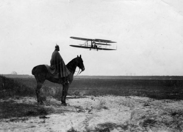 plane and horse